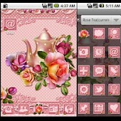 GO Launcher Theme: Rose Tea