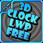 Clock 3D LWP Free icon