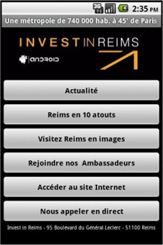 Invest in Reims - screenshot