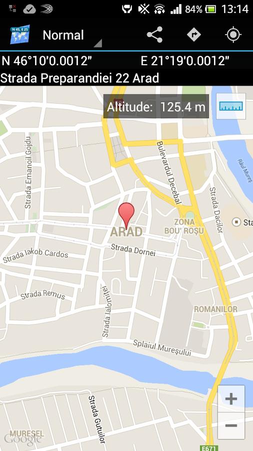 Ad Free Map Coordinates- screenshot