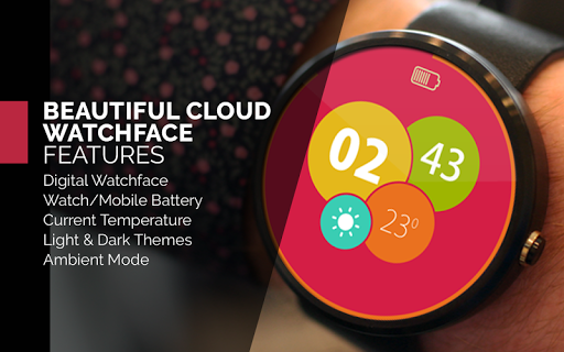 Beautiful cloud Watch Face