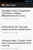 Screenshot of Golem News Reader