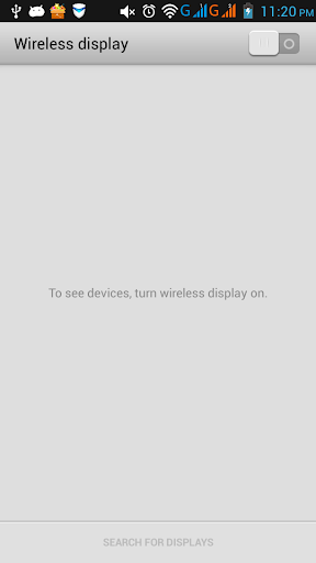 Wifi Display (Miracast) screenshot
