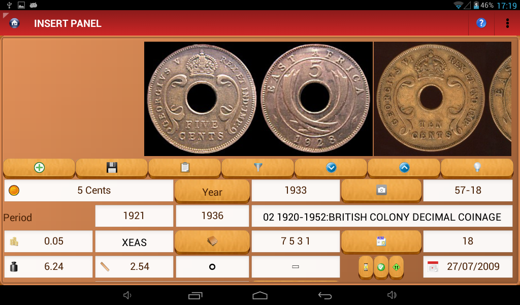 Pocket Coins Collection Lite - screenshot