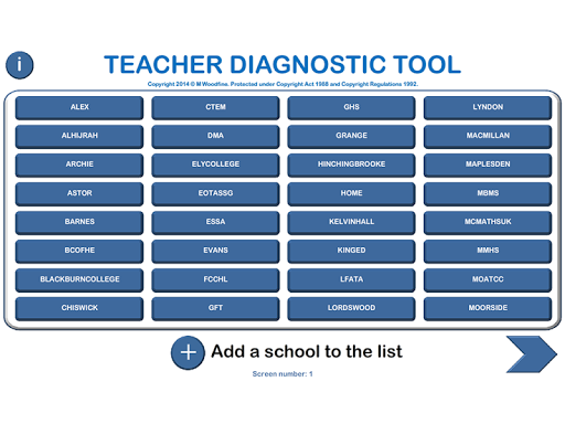 Maths Teacher Diagnostic Tool