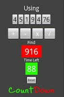 Screenshot of CountDown Math Game