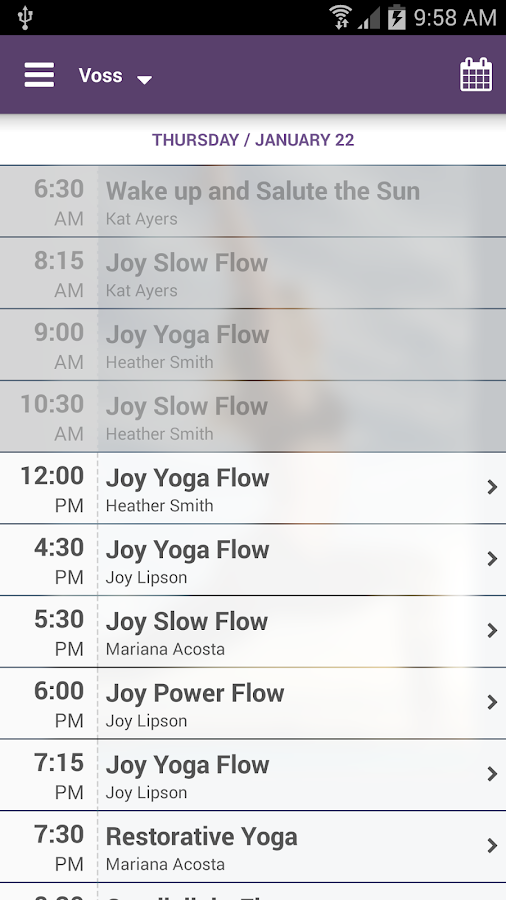 Joy Yoga Center- screenshot