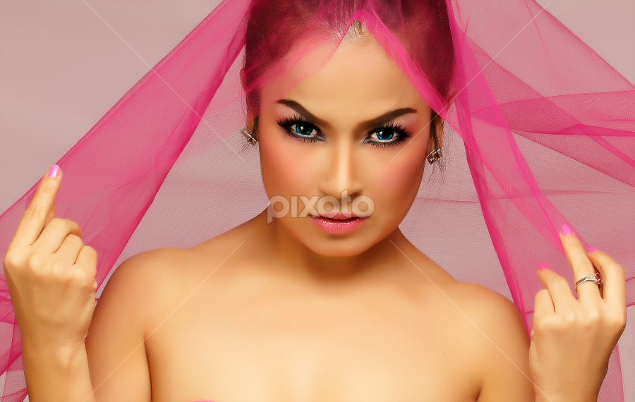 pink lady by Poetoet Adi - People Portraits of Women