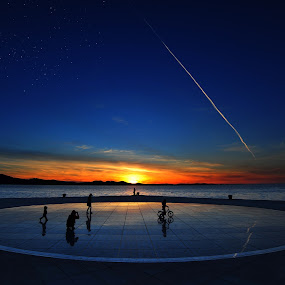 When the dream and day unite  by Davor Strenja - City,  Street & Park  Street Scenes ( sky, blue, stars, croatia, sea, zadar, sun )