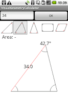 Screenshot of Visual geometry calculator