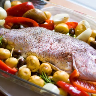 Slow Roasted Whole Snapper Recipe