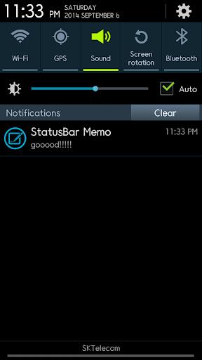 StatusBar Notebook