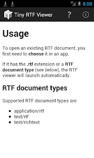 Tiny RTF Viewer- screenshot thumbnail
