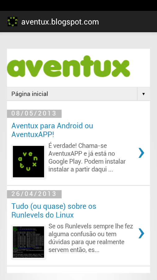 AventuxAPP- screenshot
