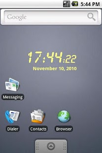 LCD clock widget- screenshot thumbnail