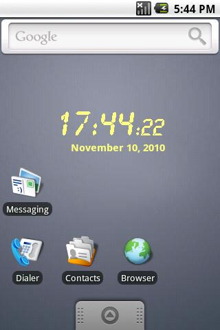 LCD clock widget - screenshot