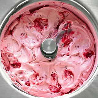 Raspberry-Cassis Ice Cream.