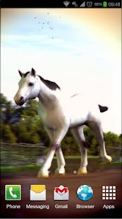Horses 3D Live Wallpaper Screenshot
