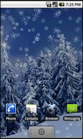 Screenshot of Holiday Snow Live Wallpaper LT