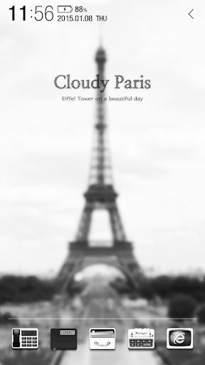 Cloudy Paris Atom Theme