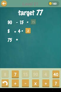 Target Number - Math Puzzler- screenshot thumbnail