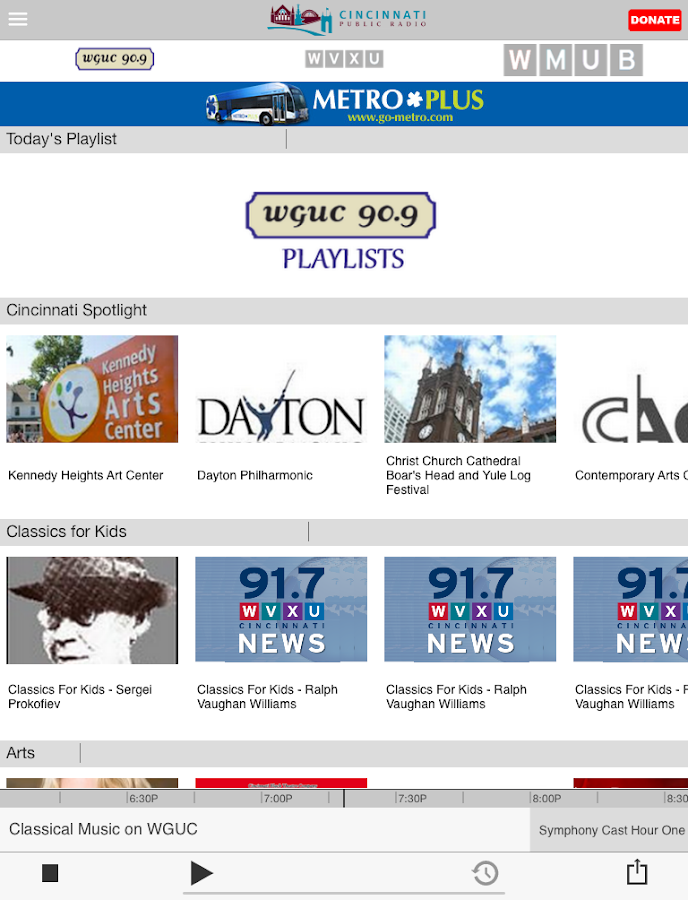 WGUC Public Radio App - screenshot