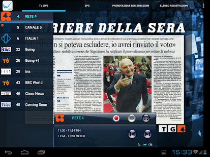 Wi.TV per tablet- miniatura screenshot