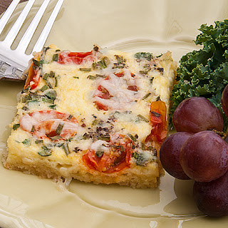 Ham and Swiss Quiche for a Crowd