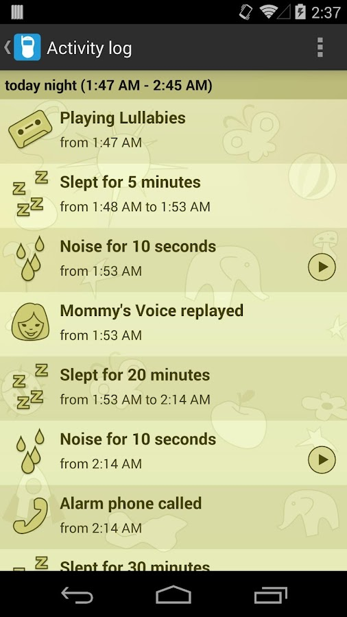 Baby Monitor & Alarm trial- screenshot