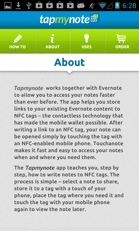 Tapmynote - screenshot