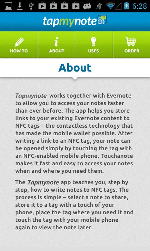 Tapmynote - screenshot