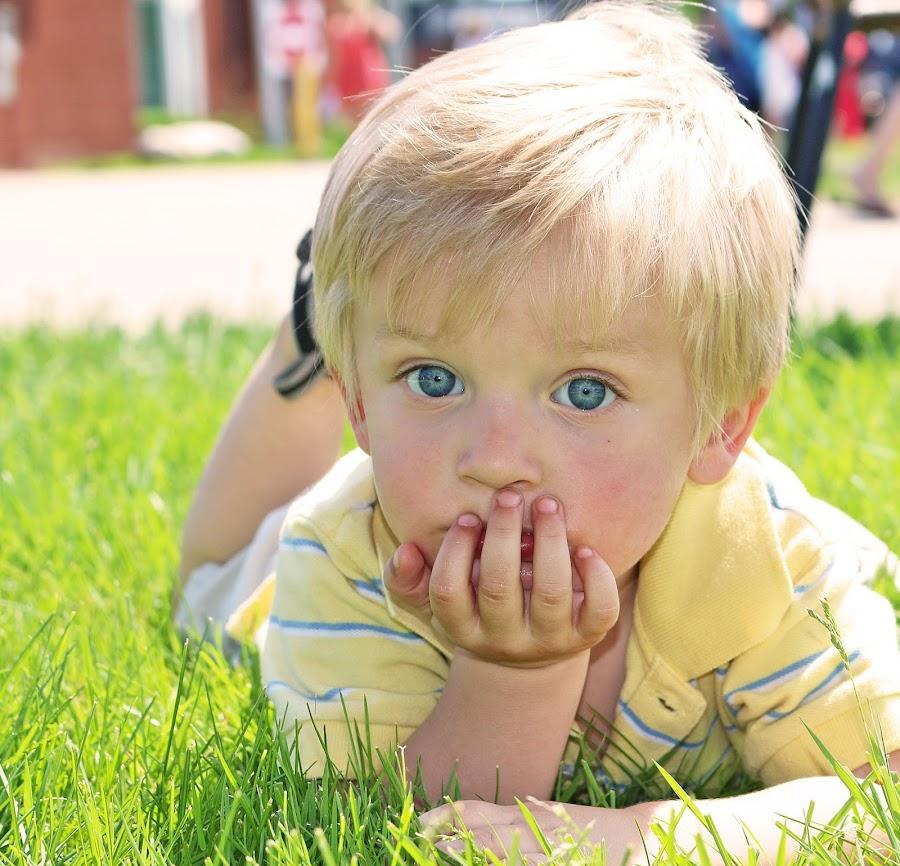 by Carrie Vanneste - Babies & Children Toddlers ( stare, beautiful eyes, summer, blue eyes, boy )