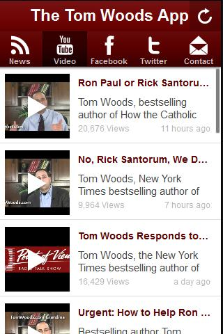 The Tom Woods App - screenshot