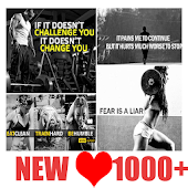 Fitness Gym Quotes Cards