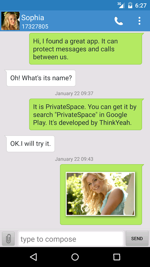Private SMS & Call - Hide Text- screenshot
