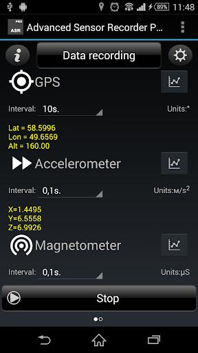 Advanced Sensor Recorder Pro