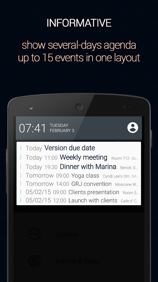 Calendar Status- screenshot