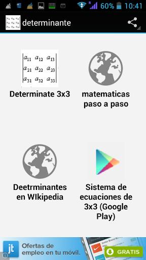 Determinante de una matriz 3x3