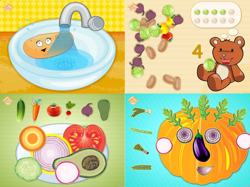 Funny Veggies Game for babies