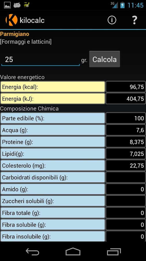 Kilocalc FREE- screenshot