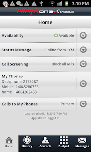 Avaya one-X® Mobile- screenshot thumbnail