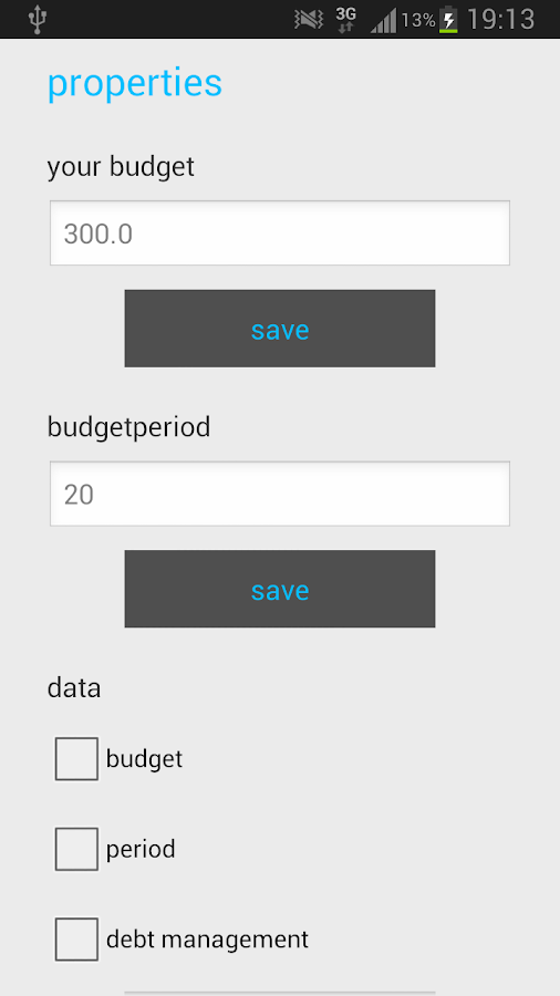 Budget Management - screenshot