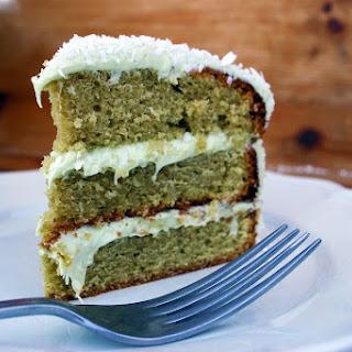 Matcha Tea, Lime and Coconut Lamington Cake Recipe