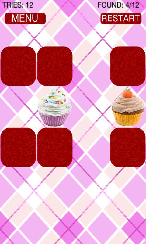 Cupcake Matching Game- screenshot