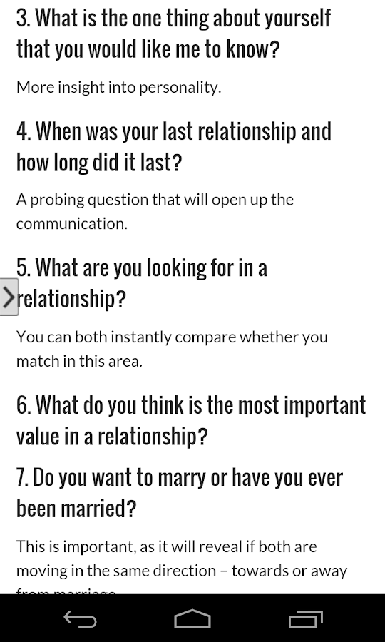 Dating questions app
