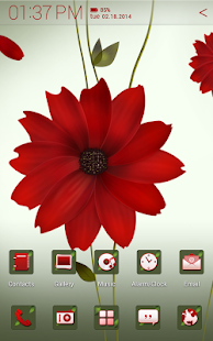 A Flower Atom theme - screenshot thumbnail