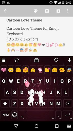 Cartoon Love Emoji Keyboard