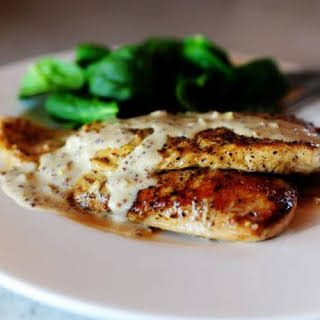Chicken with Mustard Cream Sauce.