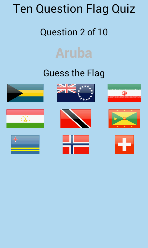 Flag Quiz En-Ru- screenshot