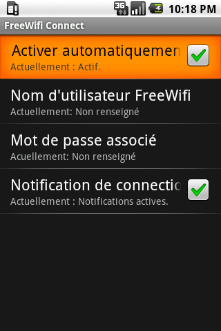 FreeWifi Connect- screenshot